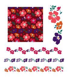 Free Flowers Pattern Stock Photo - 23362540