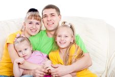 Free Family With Daughters Stock Photography - 23363032