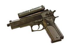 Free Handgun Isolated On White Background Royalty Free Stock Image - 23363706