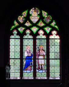 Free Stained Glass Windows In Church Stock Photography - 23364012