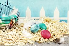 Free Rustic Easter Eggs Royalty Free Stock Images - 23364239
