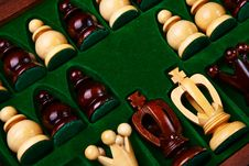 Free Chess Figures Placed In The Box. Royalty Free Stock Image - 23364626