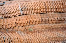 Free Pattern Of The Tile Roof. Stock Image - 23366781