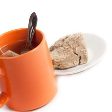 Free Cup Of Tea And Halva Royalty Free Stock Photo - 23367465