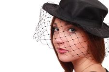 Free Woman In Black Hat Royalty Free Stock Photography - 23369717
