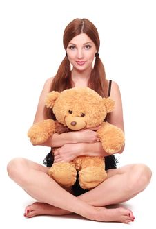 Free Sexy Girl With Toy Royalty Free Stock Image - 23369786