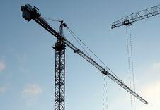 Crane Silhouette Royalty Free Stock Image