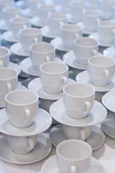 Free Cups And Saucers Royalty Free Stock Image - 23370746