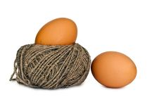 Free Two Eggs Royalty Free Stock Image - 23372206