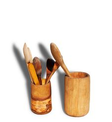 Wood Goblets And Spoons Stock Photography