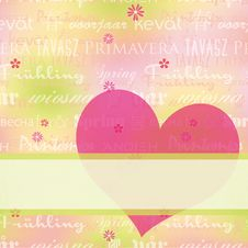 Free Abstract Springtime Greeting Card Royalty Free Stock Photography - 23373187