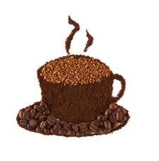Free Cup Of Coffee Made Of Grains Stock Photo - 23373650