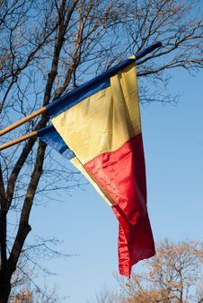 Free Romanian Flag Royalty Free Stock Photo - 23373835
