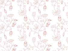 Free Vector Background With Floral Pattern. Royalty Free Stock Photography - 23375127
