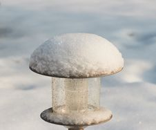 Free Street Lamp Under Snow Royalty Free Stock Photos - 23376128