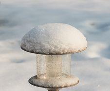 Street Lamp Under Snow Royalty Free Stock Photos