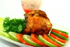 Free Indonesian Roasted Chicken Royalty Free Stock Photos - 23376848