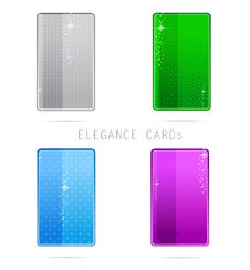Free Glass Elegance And Clean Cards Set Stock Photography - 23376912
