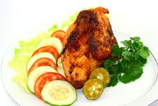 Free Indonesian Roasted Chicken Royalty Free Stock Photo - 23377765