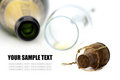 Free Cork, Champagne Glasses And Bottle Stock Image - 23380531