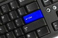 Free Black Pc Keyboard With Blue Like Key Stock Image - 23382701