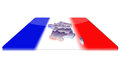Free 3D Map Of France On A 3d Flag Stock Photos - 23382703