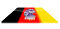 Free 3D Map Of Germany On A 3d Flag Royalty Free Stock Photography - 23382727
