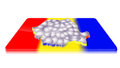 Free 3D Map Of Romania On A 3d Flag Stock Photography - 23382752