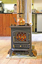 Free Copper Kettle And Fireplace Royalty Free Stock Images - 23389309
