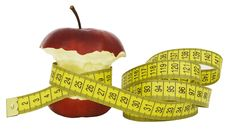 Free Apple With A Tape Stock Images - 23381694