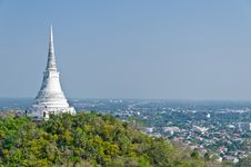 Free View Of White Pagoda On Top Of Hill Royalty Free Stock Photo - 23383655