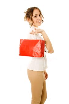 Going Home With Shopping Bag Stock Image
