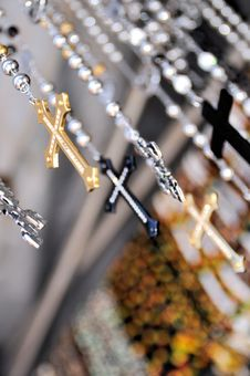 Free Hanging Crosses Royalty Free Stock Photography - 23388307