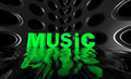 Free Music Wide Wave Poster Royalty Free Stock Images - 23392979