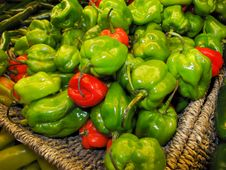 Free Green And Red Peppers Stock Image - 23390141