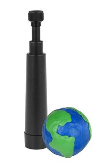 Free Spyglass And Globe Stock Photo - 23391230