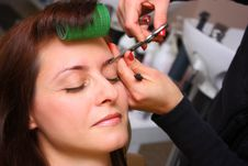 Free Beauty Salon - Eyebrows Care Stock Photo - 23391640