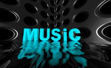 Free Music Wide Wave Poster Stock Photo - 23392970