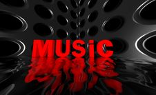 Free Music Wide Wave Poster Stock Photo - 23392990