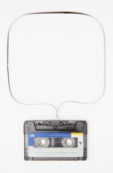Free Vintage Audio Tape On White Background Stock Photo - 23393960