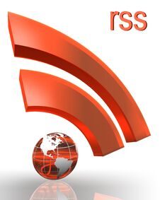 Free Rss With Earth Globe Stock Images - 23394454