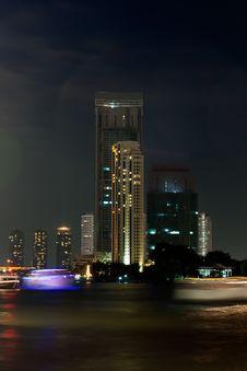 Free View Of The Bangkok Night Stock Photography - 23395732