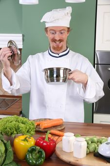 Free Funny Young Chef Royalty Free Stock Images - 23397139
