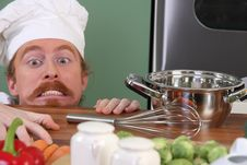 Free Funny Young Chef Royalty Free Stock Photography - 23397567