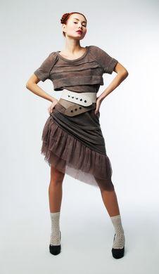 Free Fashionable Asian Girl In Stylish Retro Dress Stock Photo - 23397600