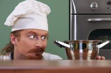Free Funny Young Chef Royalty Free Stock Photos - 23397698