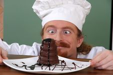 Free Funny Young Chef Royalty Free Stock Photography - 23398077