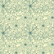Free Floral Seamless Pattern Stock Images - 23399144
