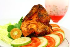 Free Indonesian Roasted Chicken Stock Image - 23399381