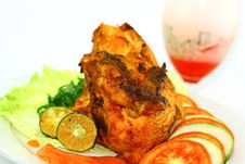 Free Indonesian Roasted Chicken Royalty Free Stock Photos - 23399558